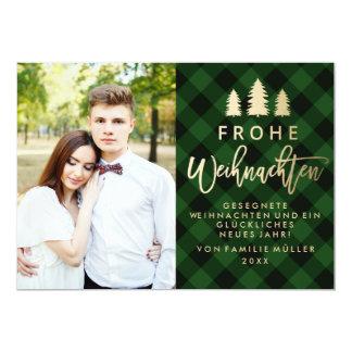 Grün Kariert | Weihnachtskarte Card
