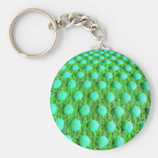 grün mit grünen Punkten Keychain