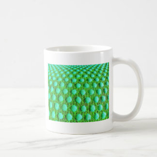grün mit grünen Punkten Classic White Coffee Mug