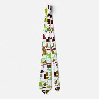 grün rot Pixel green red Neck Tie