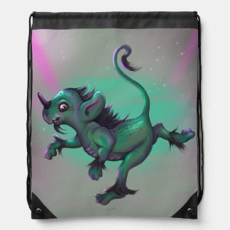 GRUNCH ALIEN CARTOON Drawstring Backpack