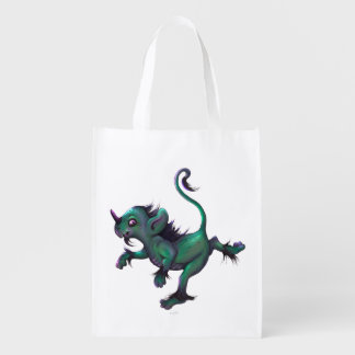 GRUNCH  MONSTER sac Réutilisable, Reusable Grocery Reusable Grocery Bag