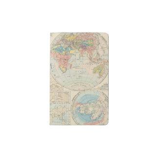 Grund u Boden - mapa del atlas del suelo Funda Para Libreta Y Libreta Pequeña Moleskine