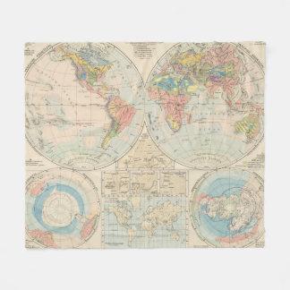 Grund u Boden - mapa del atlas del suelo Manta De Forro Polar