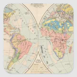 Grund u Boden - mapa del atlas del suelo Calcomanía Cuadradas Personalizada