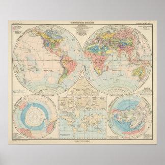 Grund u Boden - mapa del atlas del suelo Póster
