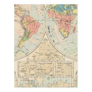 Grund u Boden - mapa del atlas del suelo Tarjetas Postales