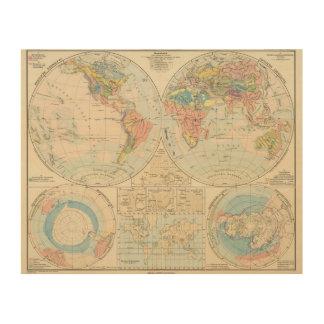 Grund u Boden - mapa del atlas del suelo Impresión En Madera