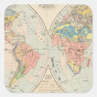 Grund u Boden - Soil Atlas Map Square Sticker