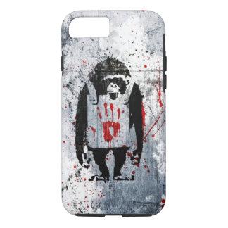 grundge bloody monkey design iPhone 7 case