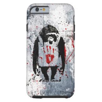 grundge bloody monkey design tough iPhone 6 case