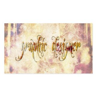 Grundge Graphic Designer Business Card