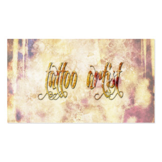 Grundge Tattoo Artist Business Card