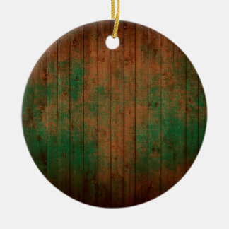 grundgy worn wood background ceramic ornament