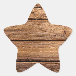 grundgy worn wood background sticker