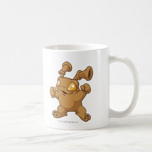 Grundo Brown Classic White Coffee Mug