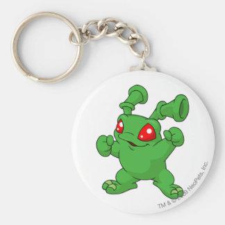 Grundo Green Basic Round Button Keychain