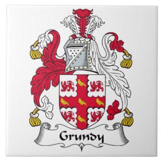 Grundy Family Crest Ceramic Tile