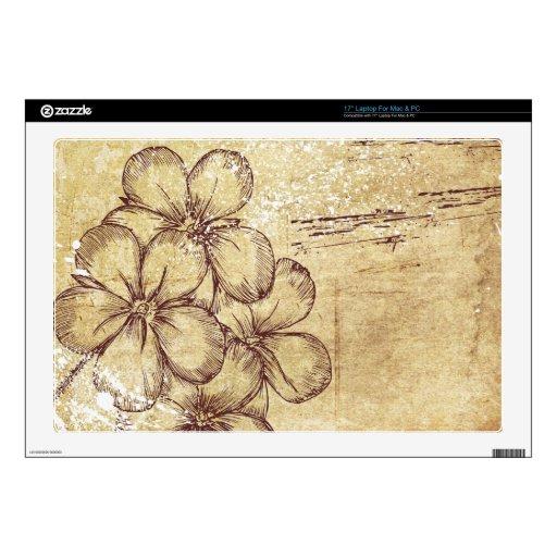 """grundy floral design skin for 17"""" laptop"""