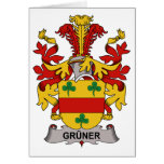 Gruner Family Crest Greeting Card