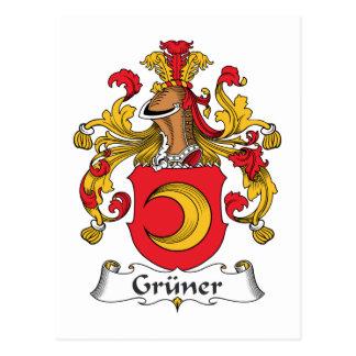 Gruner Family Crest Postcard