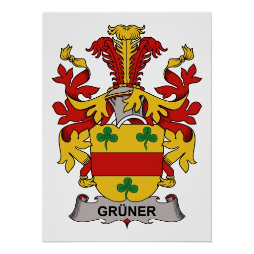 Gruner Family Crest Posters