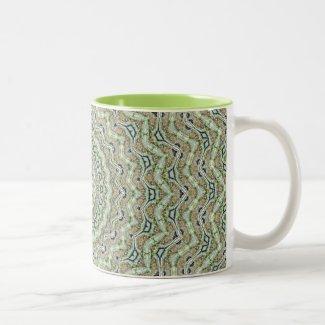Grünes Kaleidoskop Teetassen
