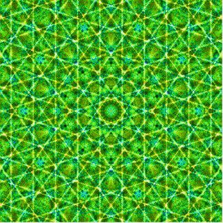 Grünes Netz Kaleidoscope/Green Kaleidoscope Net Cutout