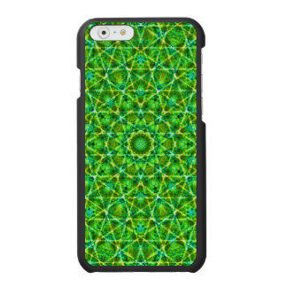Grünes Netz Kaleidoscope/Green Kaleidoscope Net iPhone 6/6s Wallet Case