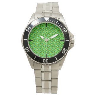 Grünes Netz Kaleidoscope/Green Kaleidoscope Net Wrist Watch