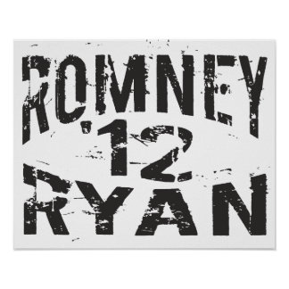 Grunge 2012 ROMNEY RYAN Impresiones
