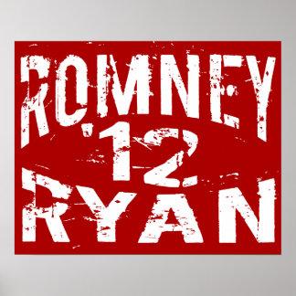 Grunge 2012 ROMNEY RYAN Póster