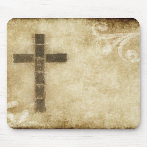 Grunge #2B cruzado - papel horizontal de la postal Alfombrilla De Ratón