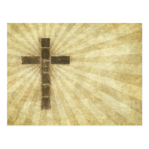 Grunge #3B cruzado - rayos de papel horizontales d Postal