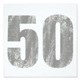 Grunge 50th Birthday Gifts Card