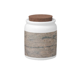 Grunge 5 Decorative Ceramic Jar With Cork Lid Candy Dishes