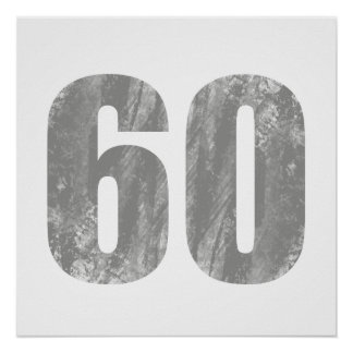 Grunge 60th Birthday Gifts Posters