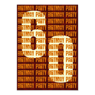 Grunge 60th Birthday Gold and Brown W1048 5x7 Paper Invitation Card
