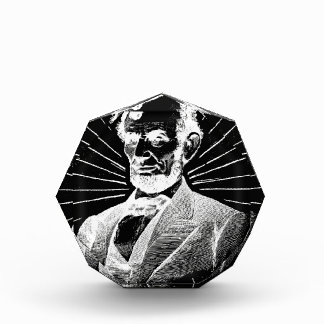 grunge abraham lincoln acrylic award