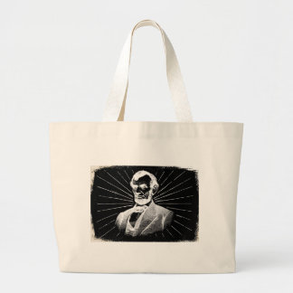 grunge abraham lincoln large tote bag