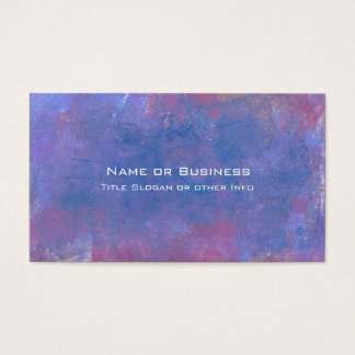 Grunge Abstract Background in Blue Purple and Red Business Card
