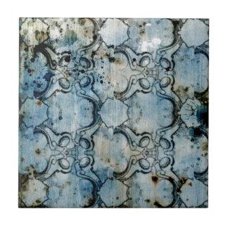Grunge abstracto azulejo cuadrado pequeño