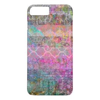 Grunge abstracto bohemio de la acuarela bonita funda iPhone 7 plus
