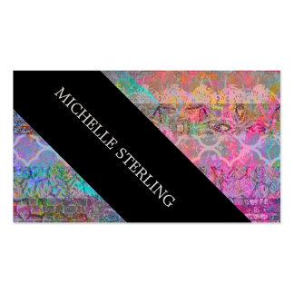 Grunge abstracto bohemio de la acuarela bonita tarjetas de visita