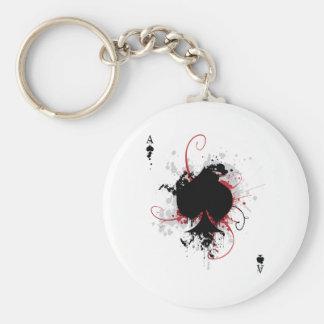 Grunge Ace Keychain
