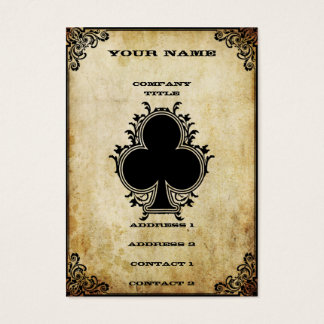 Grunge Ace of Clubs Business Card