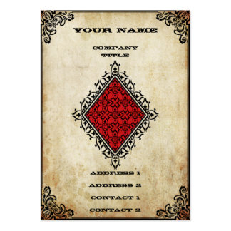 Grunge Ace of Diamonds Large Business Cards (Pack Of 100)