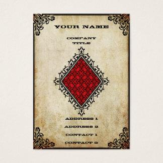 Grunge Ace of Diamonds Business Card