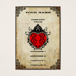 Grunge Ace of Hearts Business Card