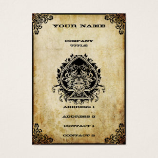 Grunge Ace of Spades Business Card